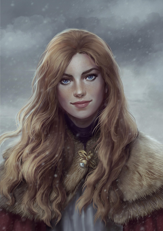Art Viking Girl Character