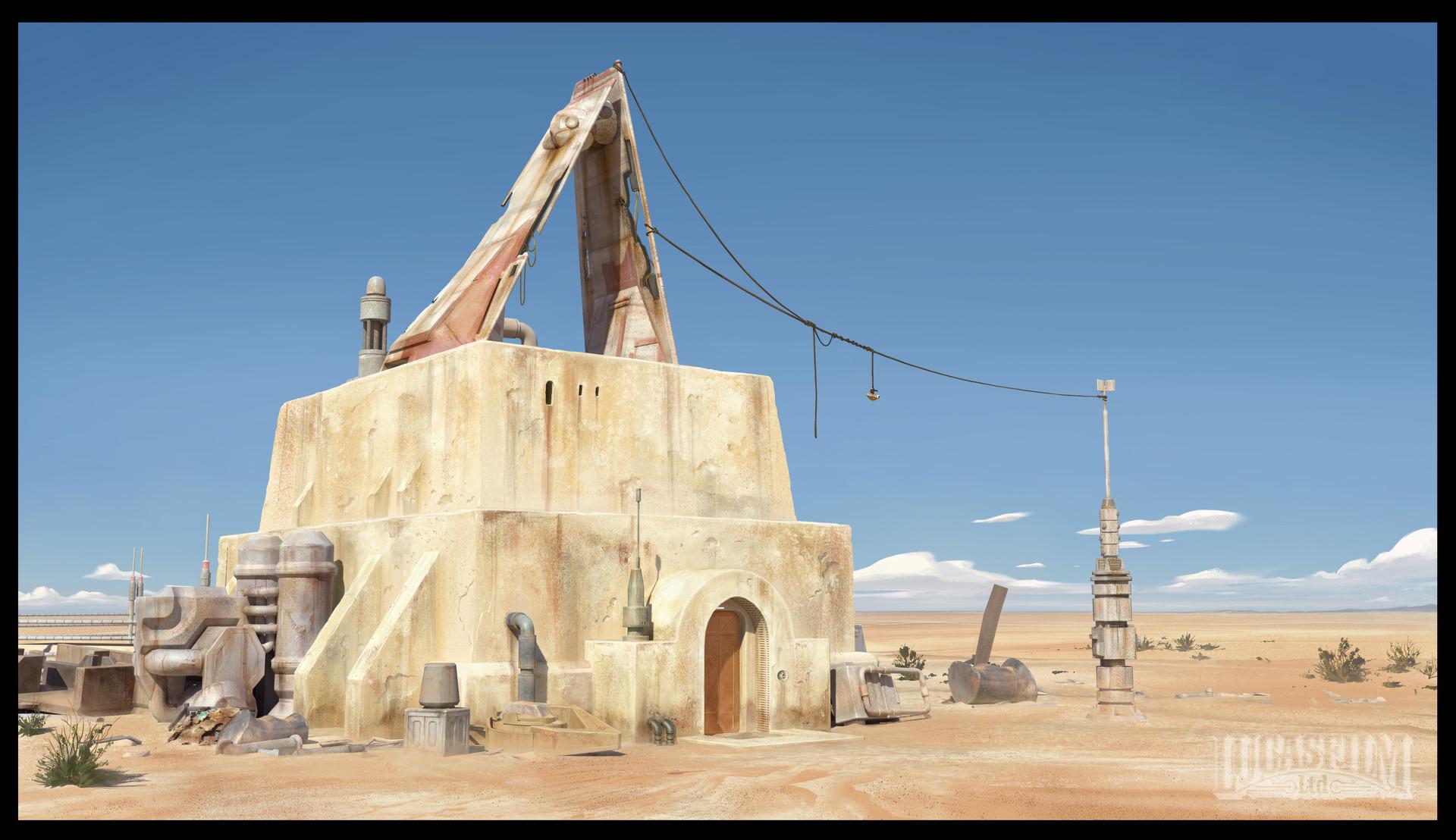 Artstation - Tatooine Outpost John-paul Balmet