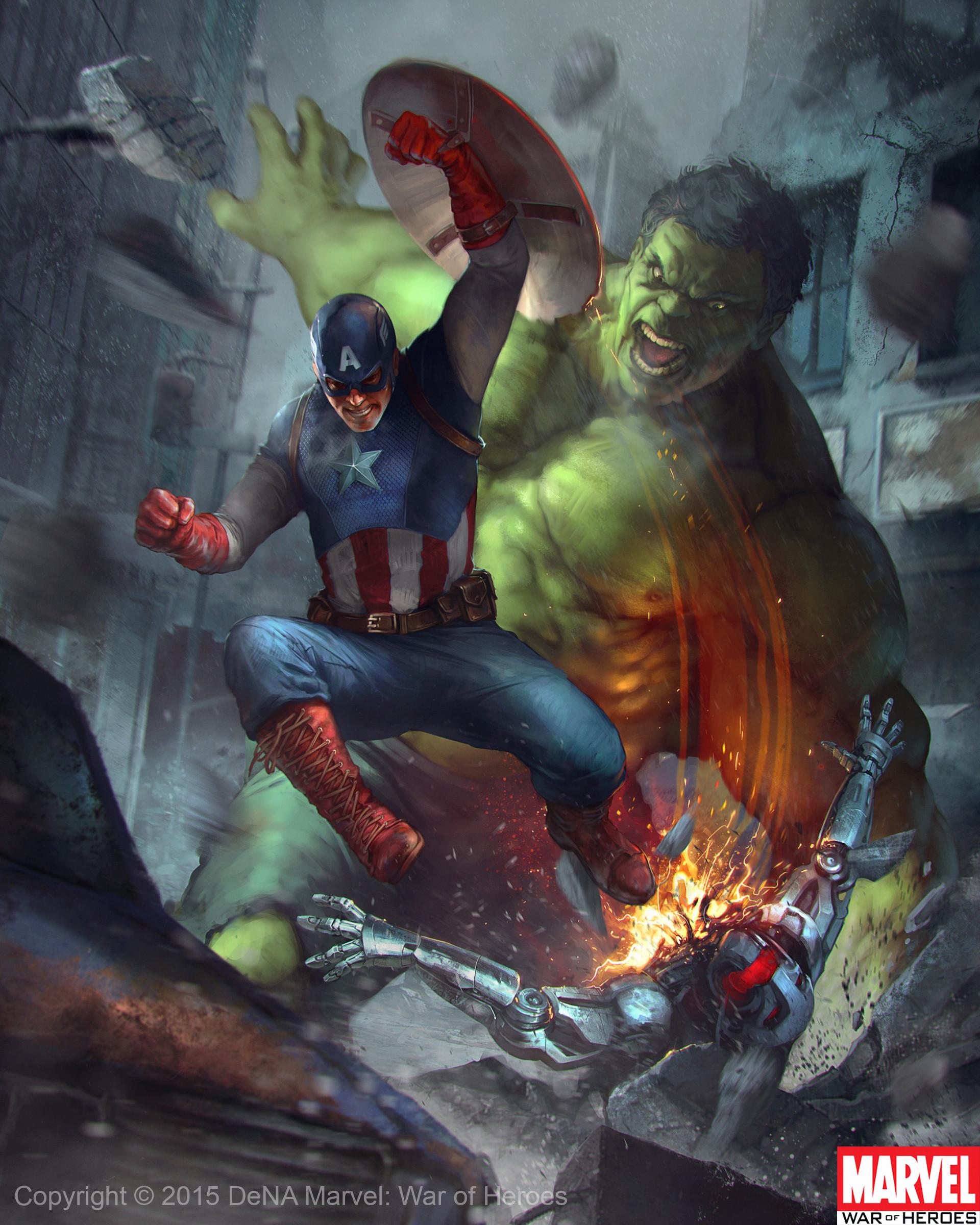 artstation hulk and captain