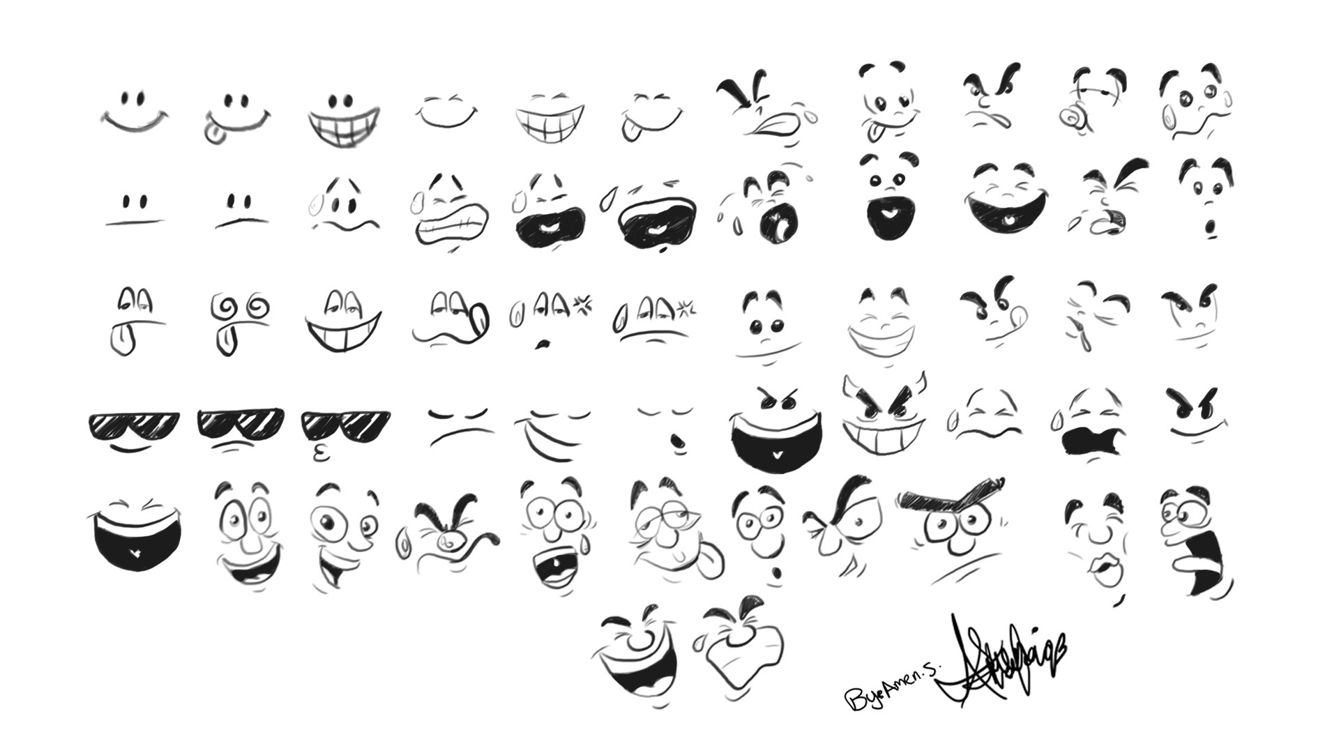 This was my emotions chart  created when in first year of animation as reference also artstation amen  rh