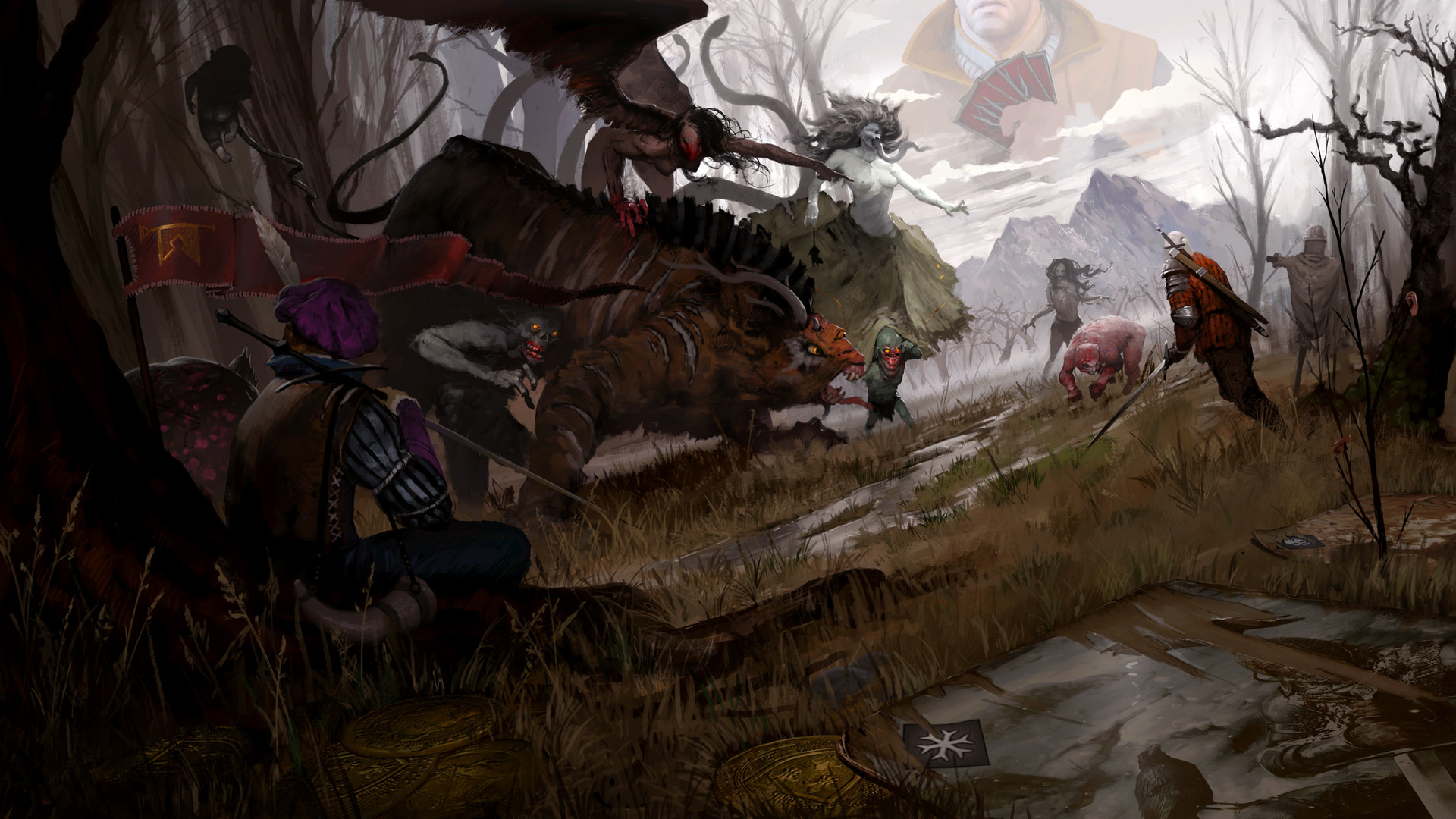 ArtStation Gwent Battle Maxim Kozlov
