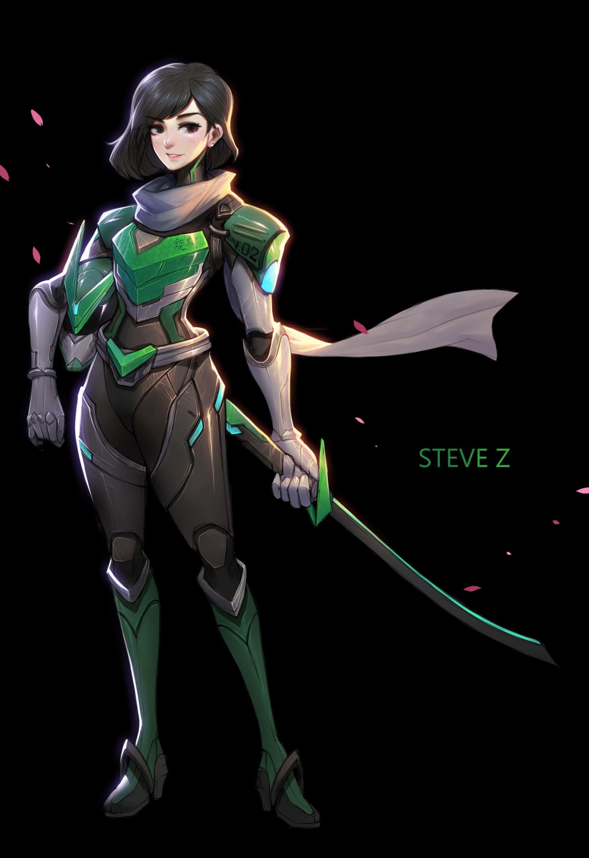 Cool Girls Overwatch Wallpapers Artstation Sentai Genji Steve Zheng