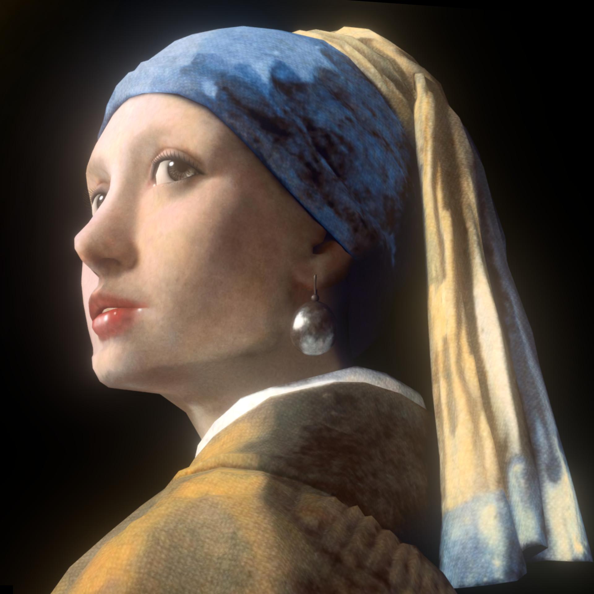 With A Pearl Earring With A Pearl Earring Earrings Biju