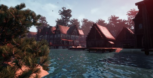 Medieval Fantasy Coastal Town