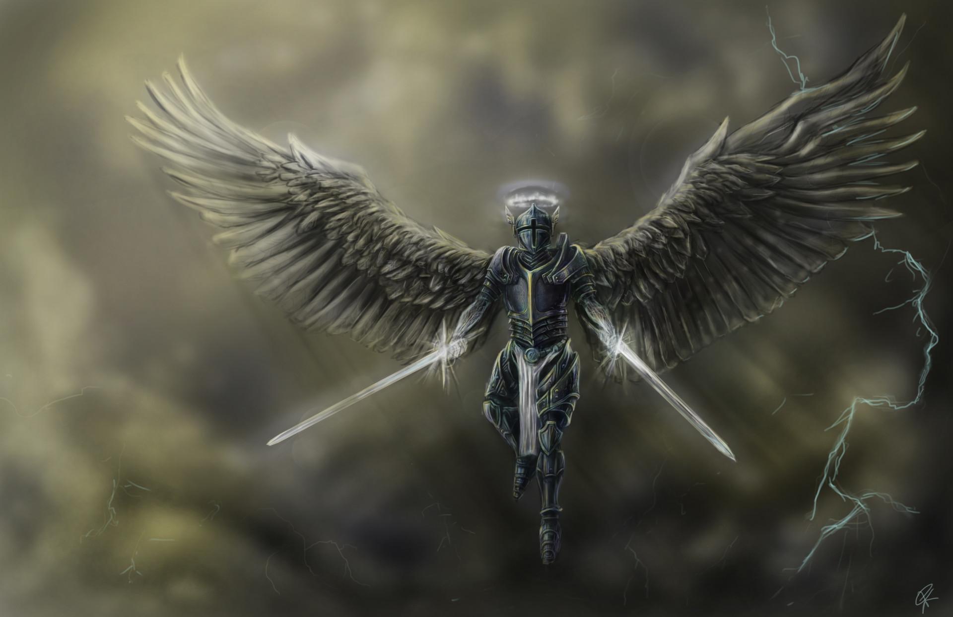 artstation angel in armor