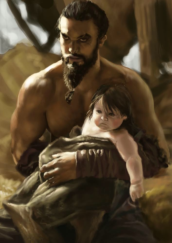 Wallpaper In Hd Images Artstation Khal Drogo And Rhaego Antonio Roque