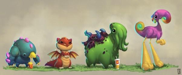 ArtStation Creatures and fast food Kah Fai Shum