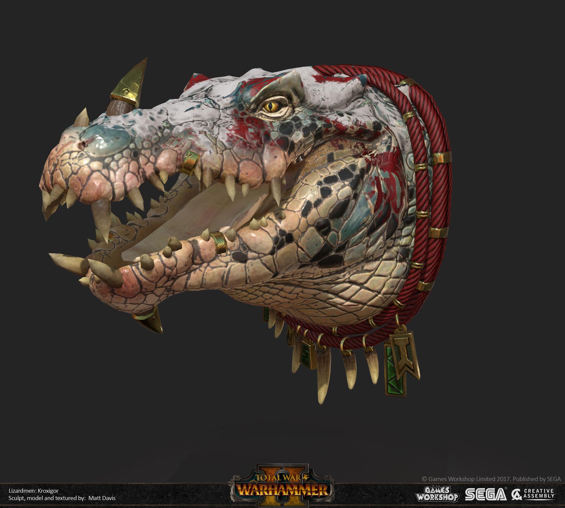 Matthew Davis  Total War Warhammer 2 Kroxigors