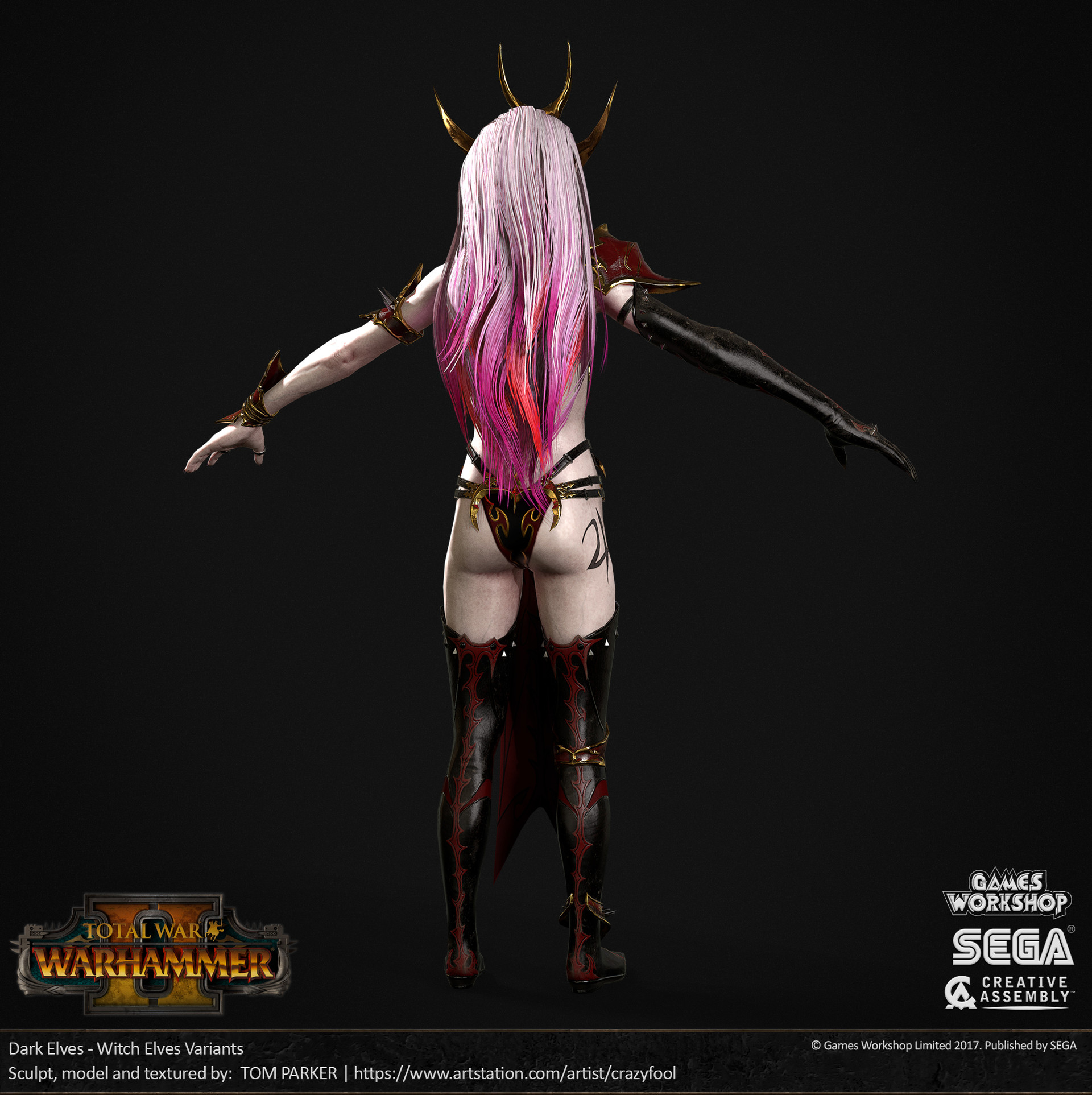 Tom Parker Total War Warhammer 2 Dark Elf Witch Elves