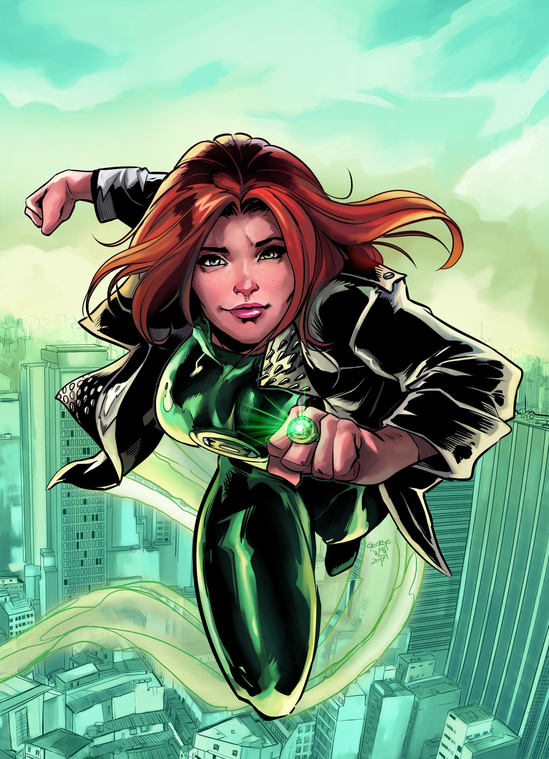 Artstation - Girl Green Lantern George Wolf