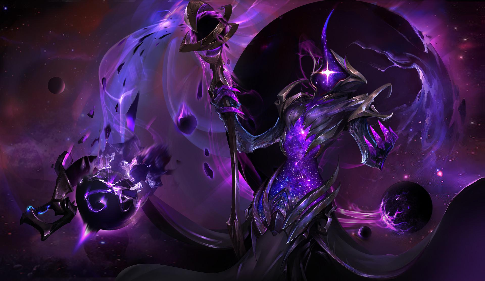 Artstation - Darkstar Soraka Dante Liu
