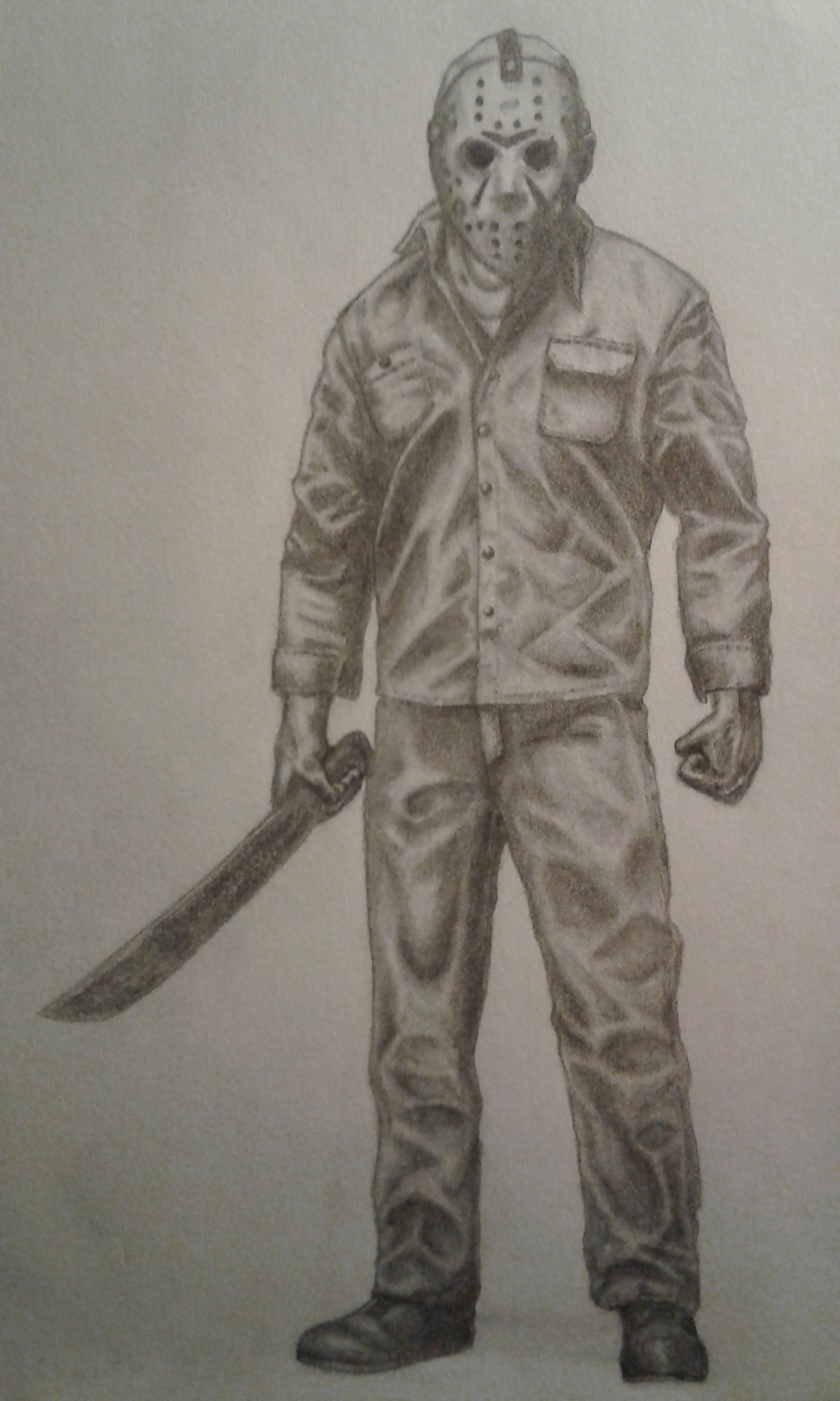 Jason Friday The 13th Drawing : jason, friday, drawing, Chris, Clements, Friday, Jason, Voorhees