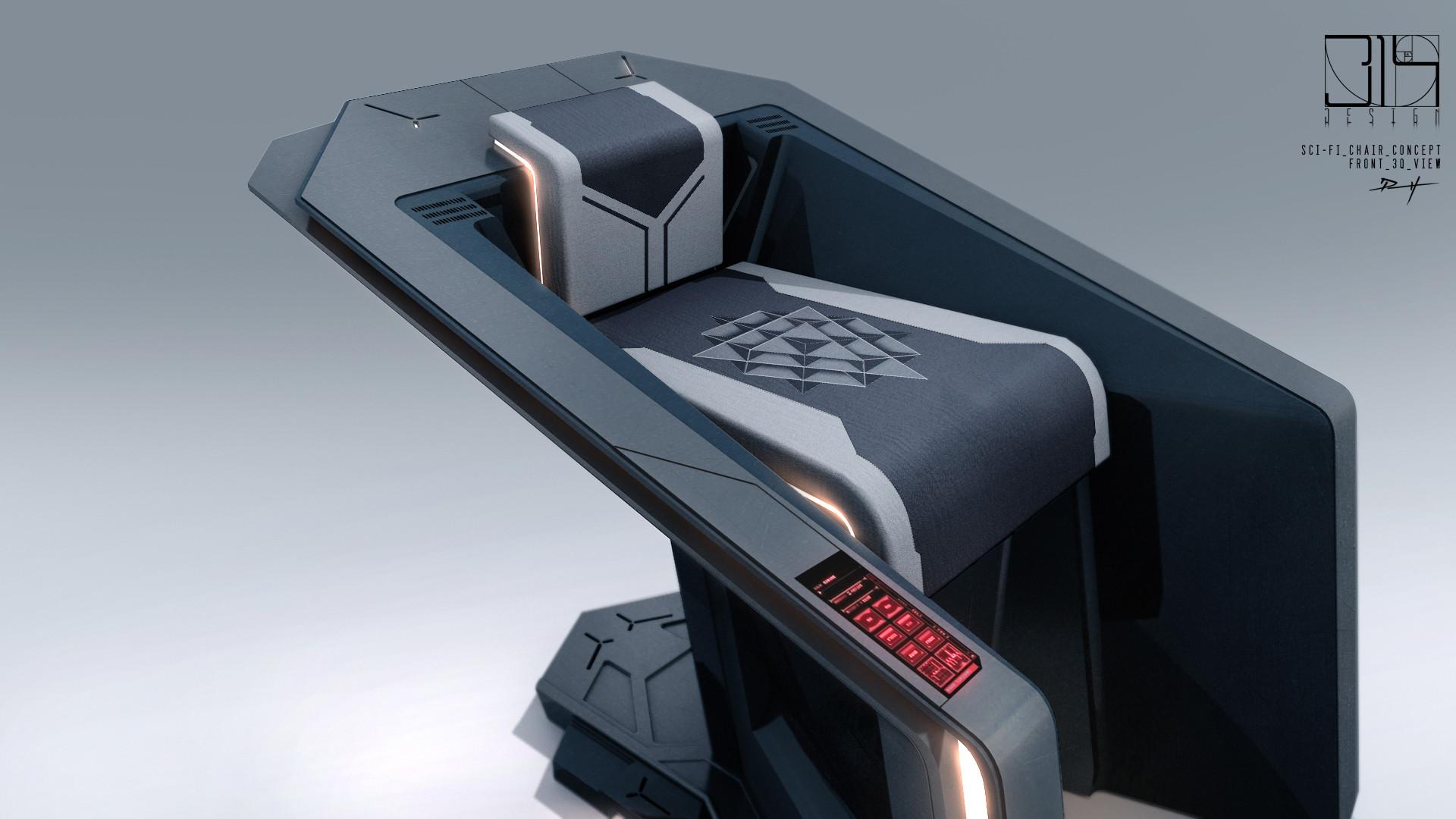 Artstation - Sci-fi Apartment Battle Command Table