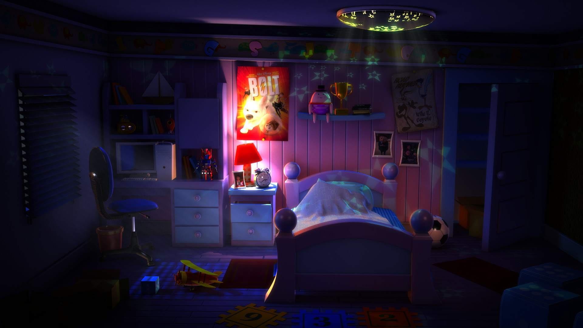 Kids Room At Night 2