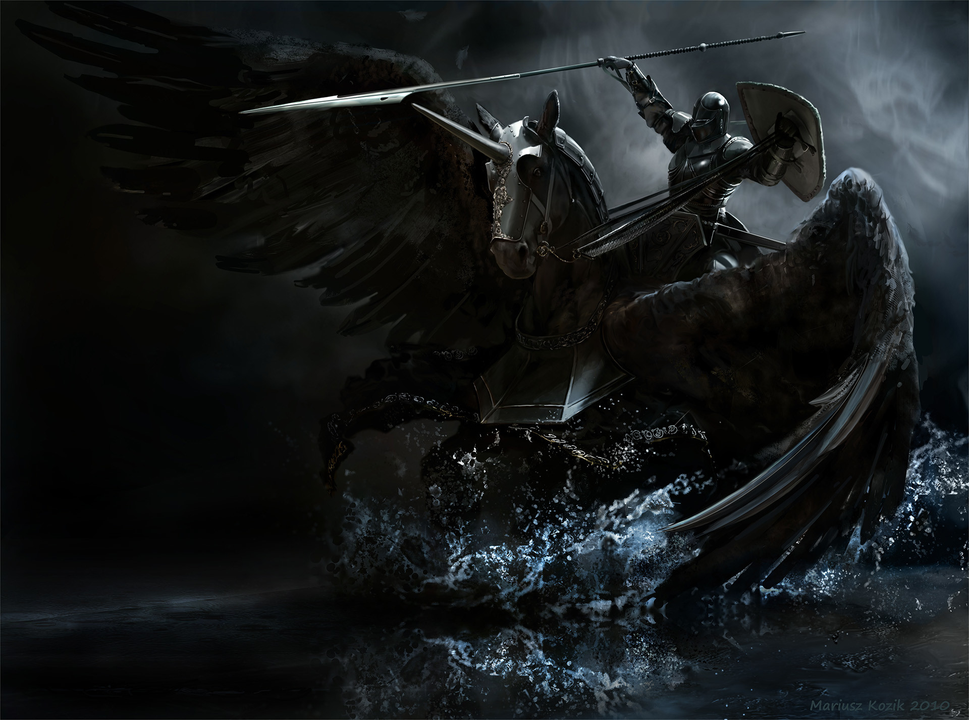Angel of Death On Horse Drawing