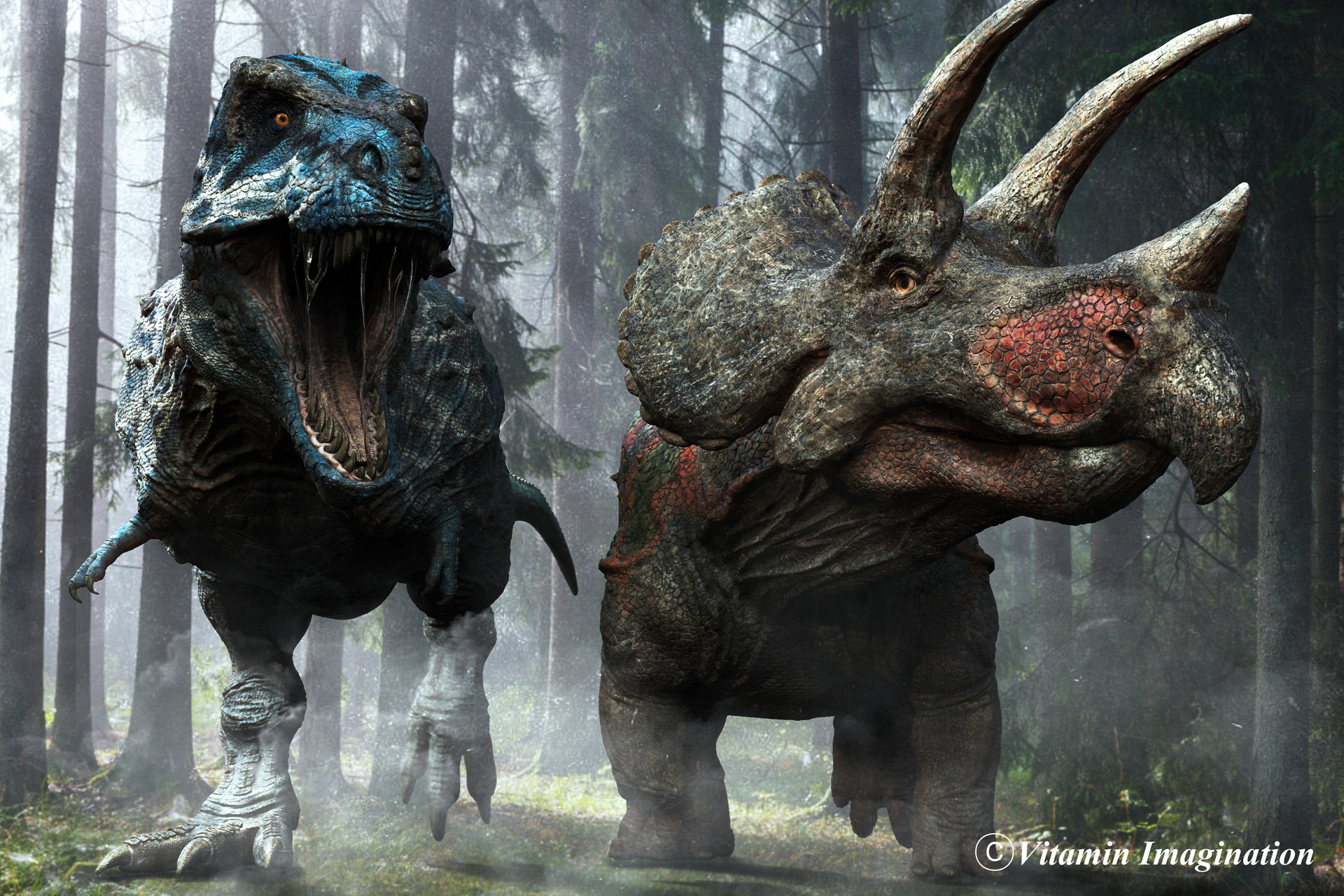 Vitamin Imagination  Tyrannosaurus vs Triceratops 2017 by Vitamin Imaigination