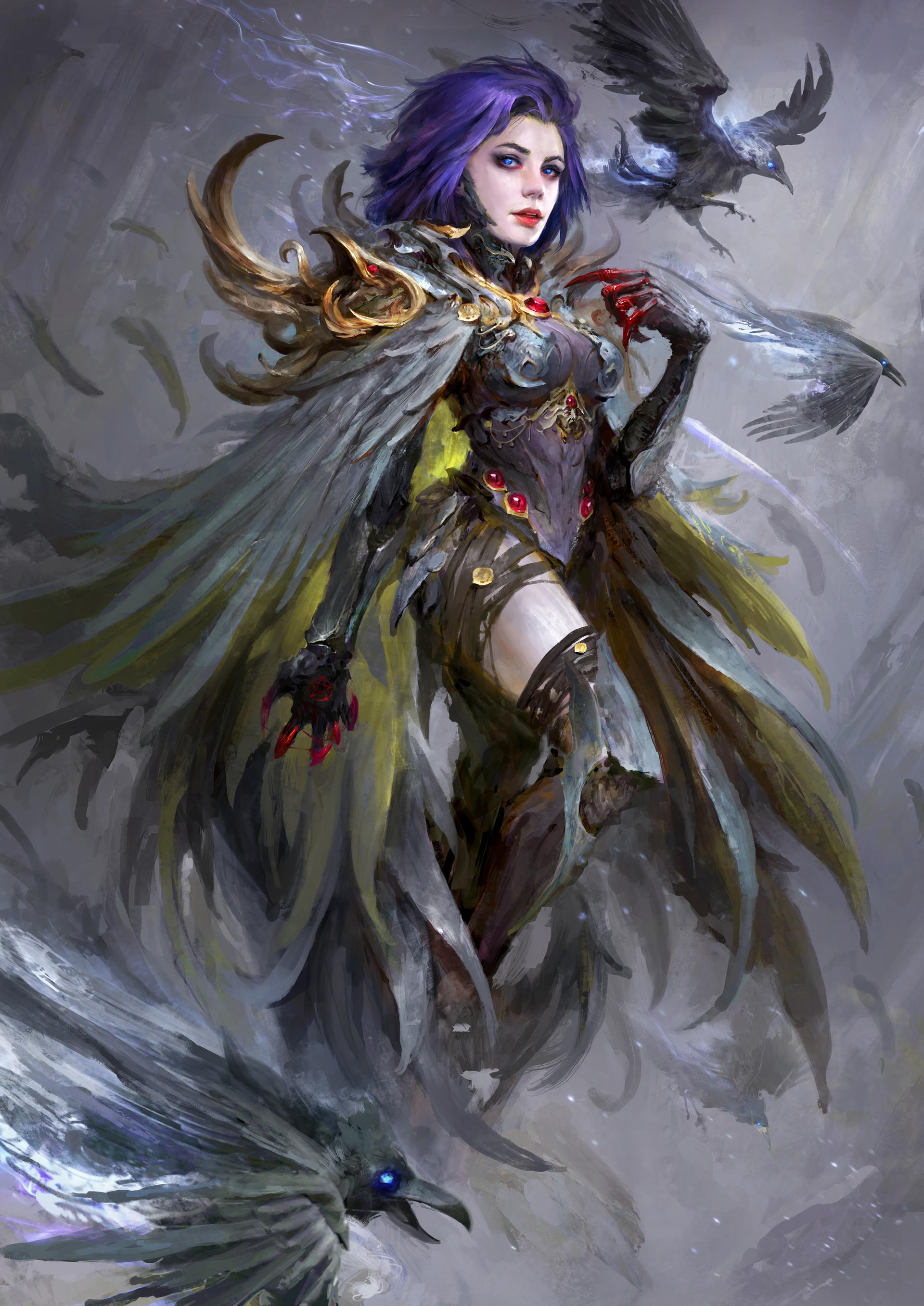 Overwatch Girl Fanart Wallpaper Artstation Raven Daniel Kamarudin