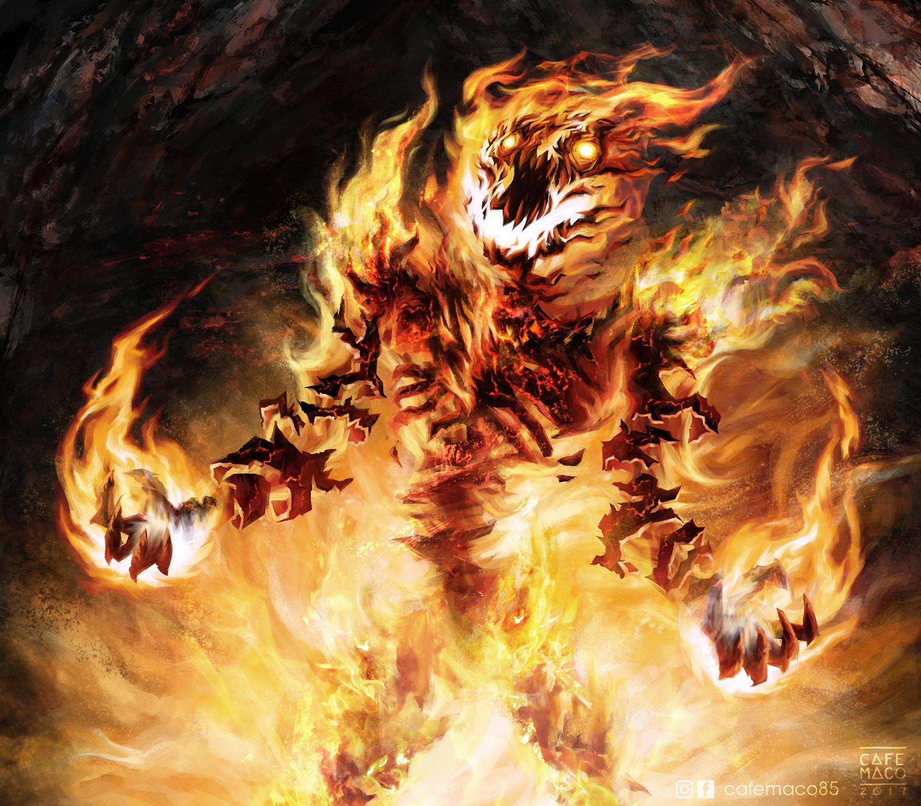 artstation anger fire demon