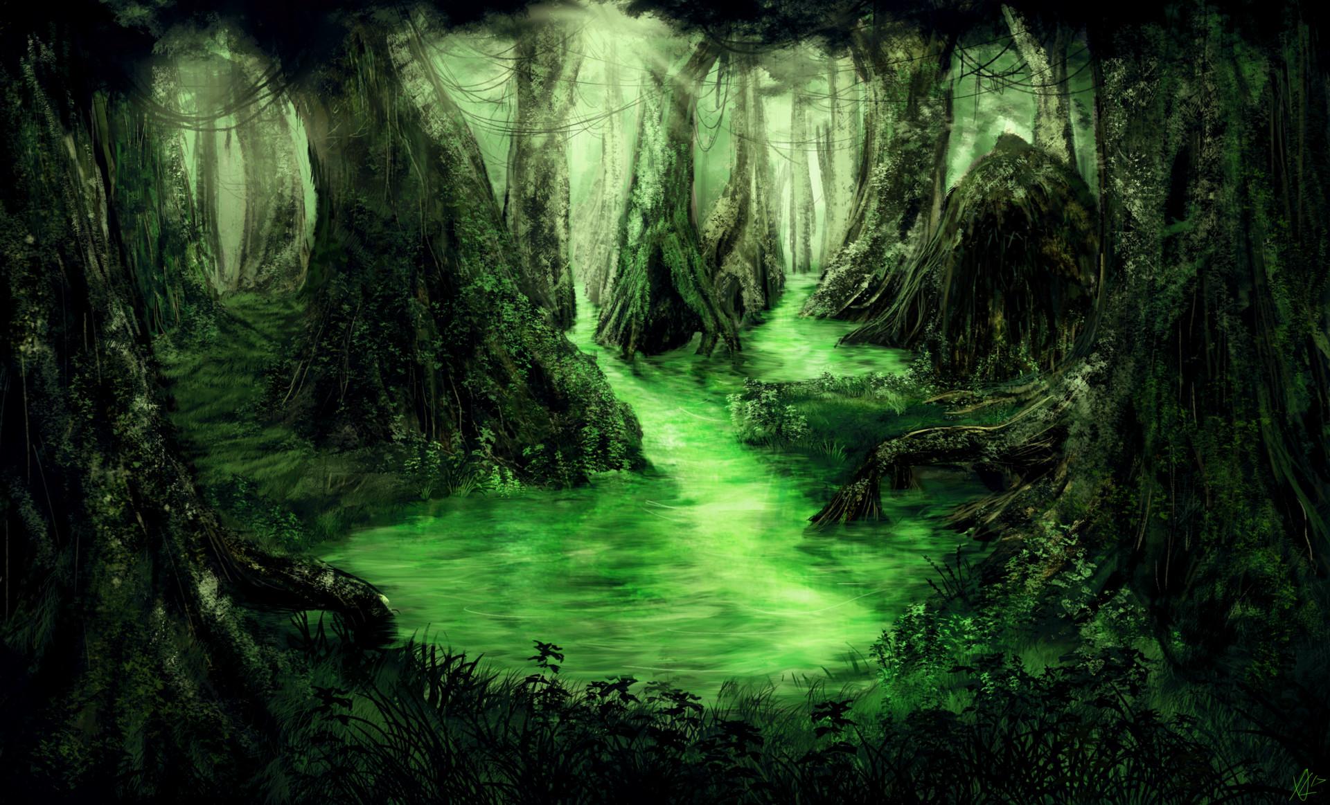 Alexander Lund  Fantasy Swamp DayNight