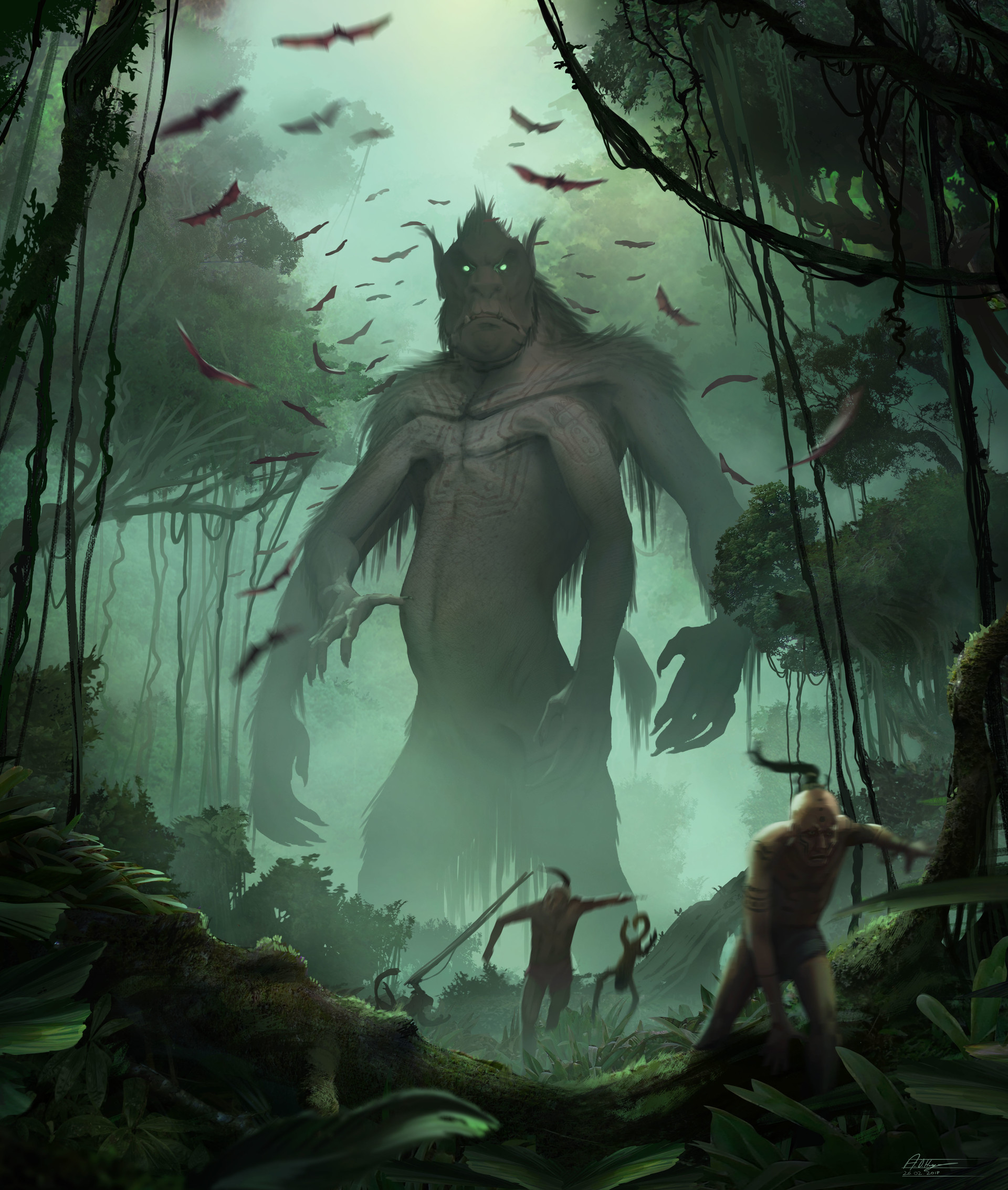 Anime Video Wallpaper Artstation Forest Spirit Creature Design Anthony