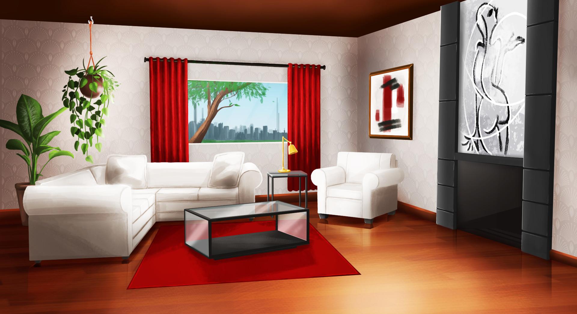 MarieChristine Audet  living room background  Visual