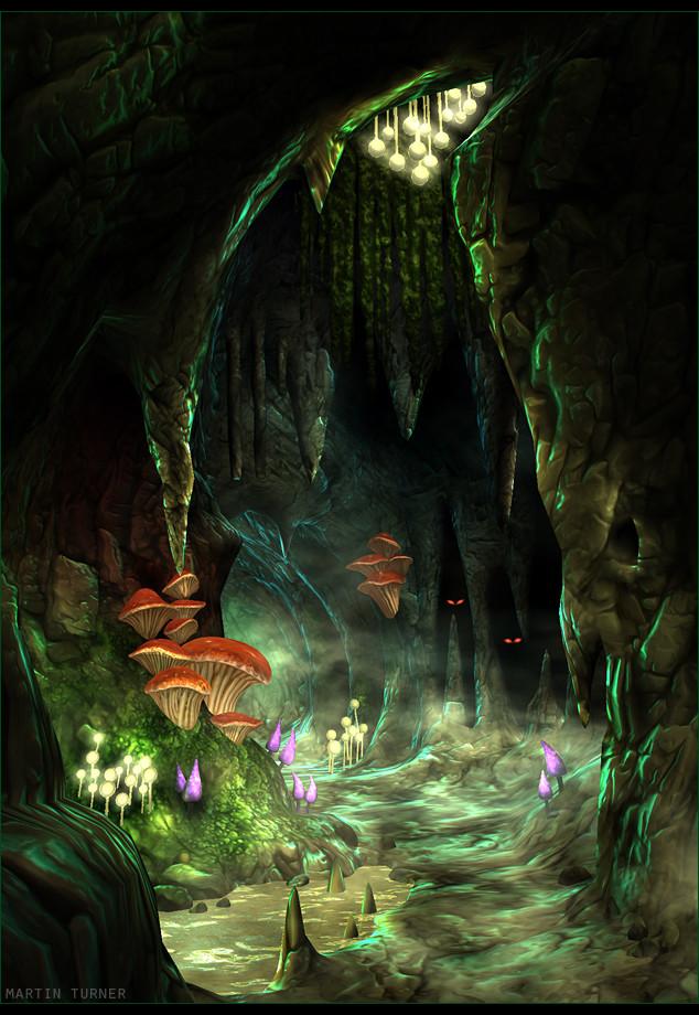 Artstation Warhammer Night Goblin Cave Environment