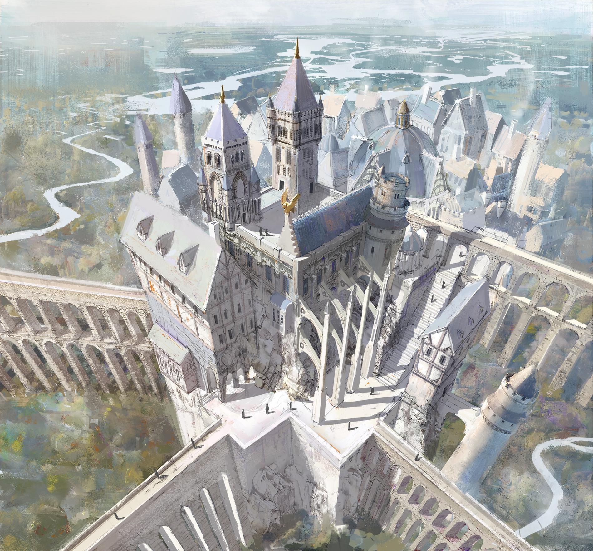 Artstation Cloud Castle Ruedy Stacher