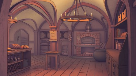 ArtStation Castle Kitchen Jake Bowkett