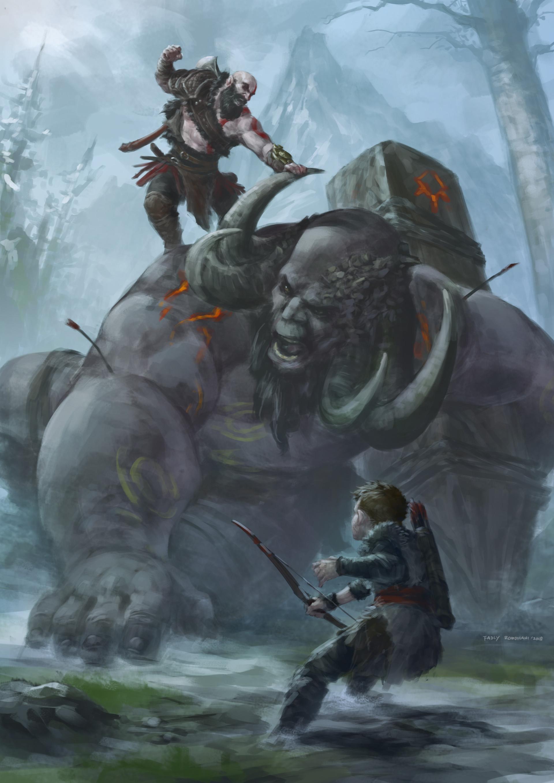 Stark Wallpaper Hd Artstation God Of War Fadly Romdhani