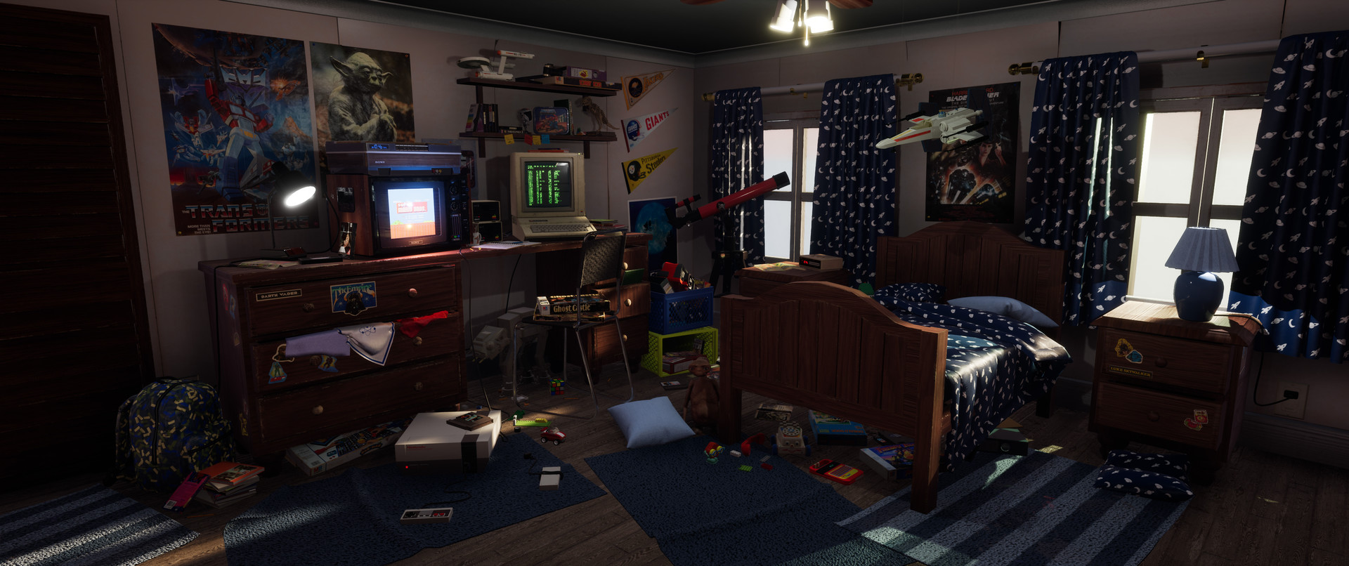 Tom Radford  Retro 80s Bedroom Unreal Engine 4