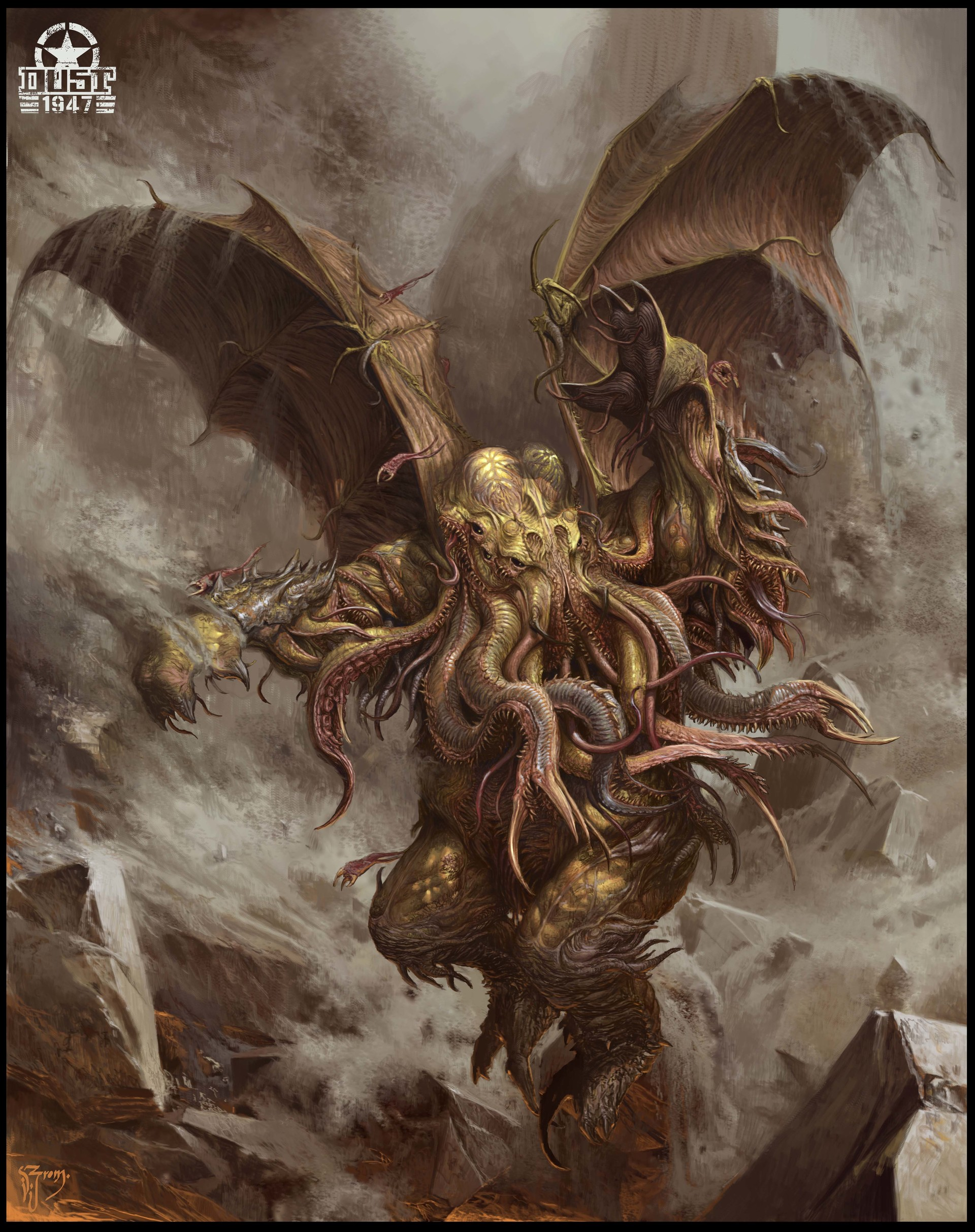 Artstation - Avatar Of Cthulhu Daniel Zrom