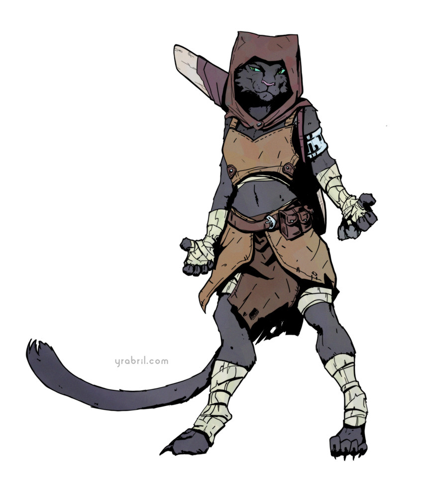 Female Tabaxi Monk - Exploring Mars