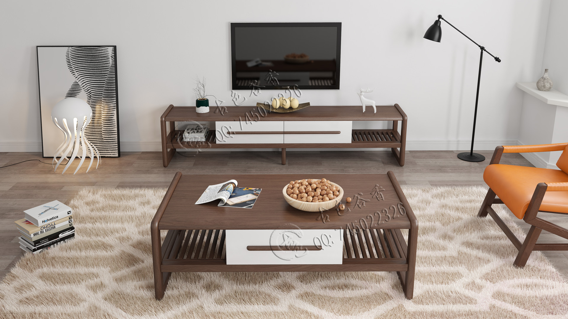 solid wood coffee table tv cabinet