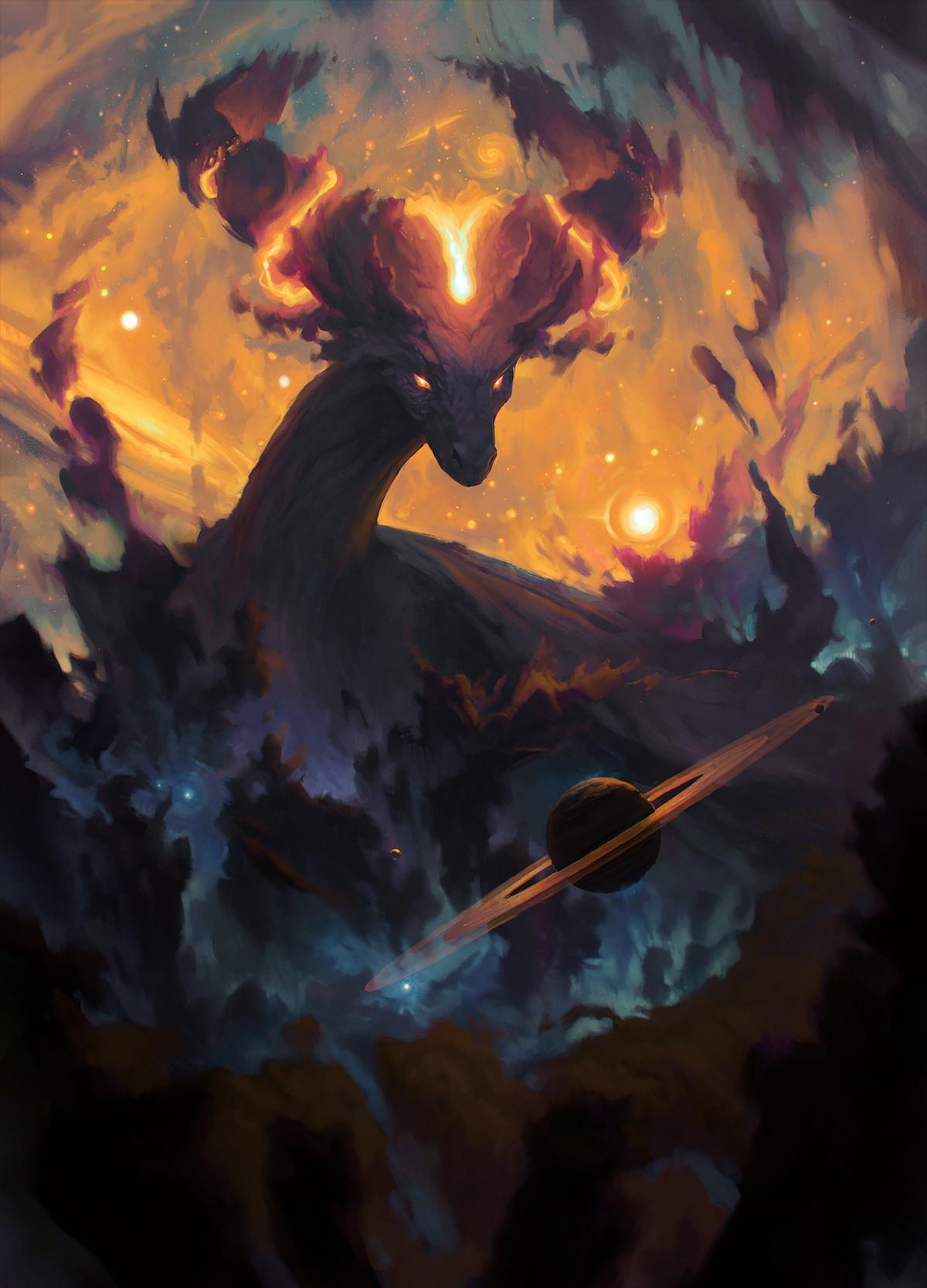 ArtStation  The Cosmic Dragon Ondej Hrdina