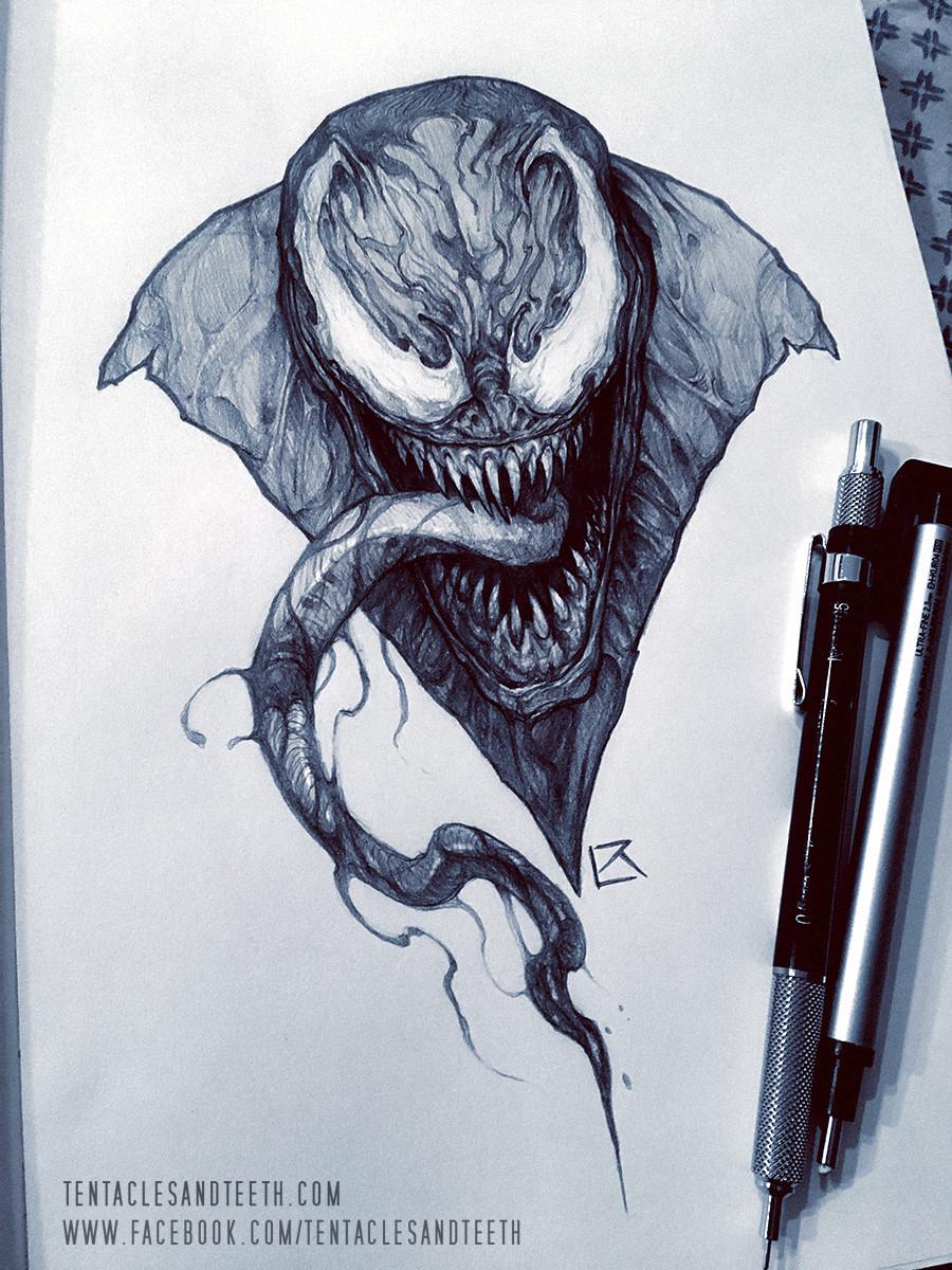 ArtStation  Venom Drawing Richard Luong