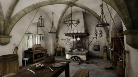 Zdenek Elefant Medieval kitchen