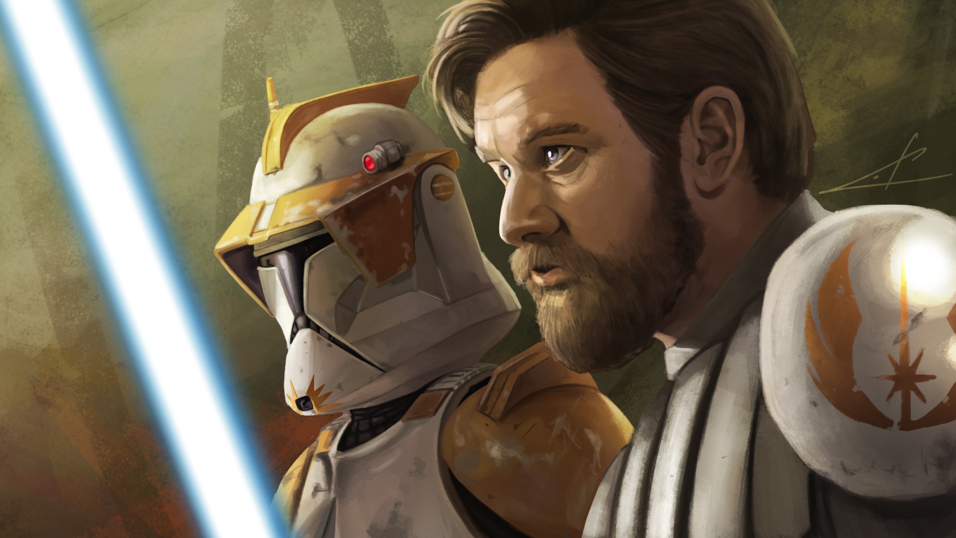 Clone Wars Wallpaper Hd Artstation Obi Wan Kenobi And Commander Cody Star Wars