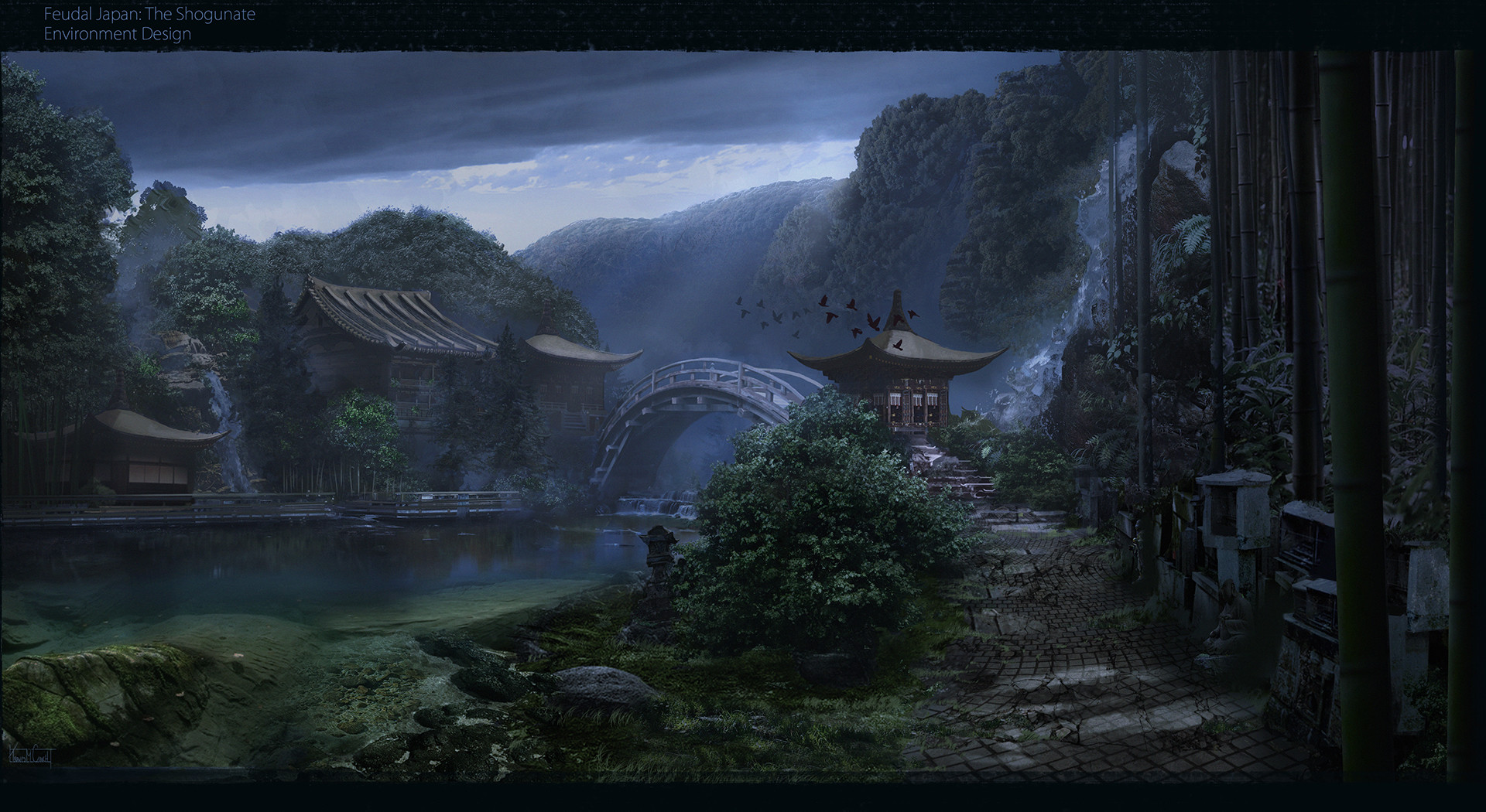 Artstation - Village Feudal Japan Shogunate