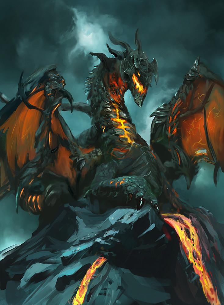 artstation lava dragon tapio