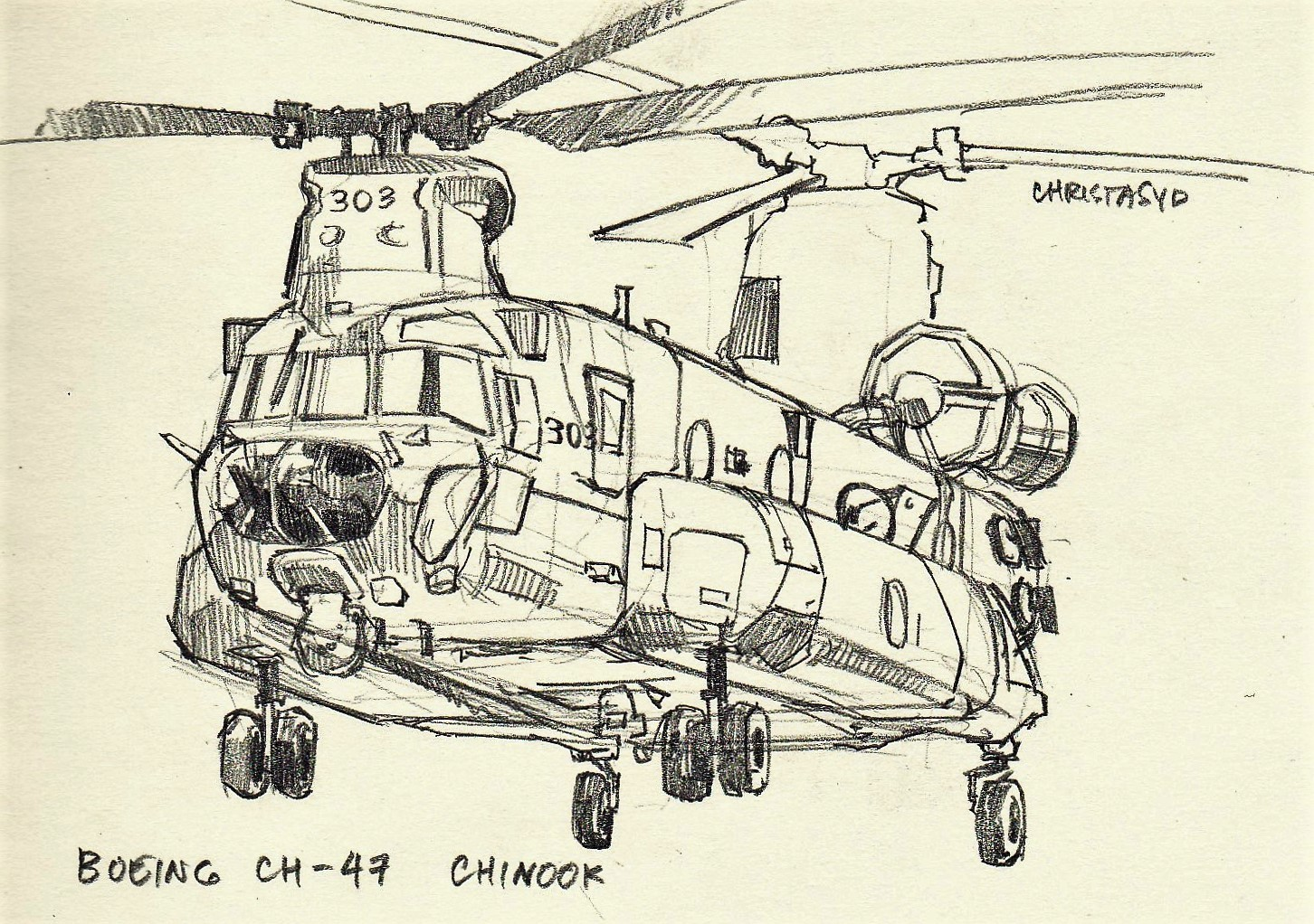 boeing ch 47 chinook study  [ 1452 x 1022 Pixel ]