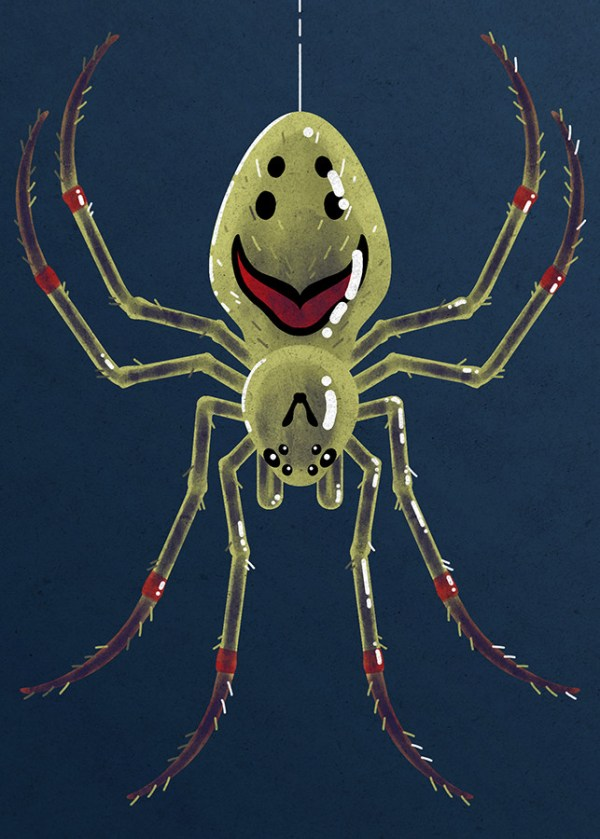 happy face spider  # 15