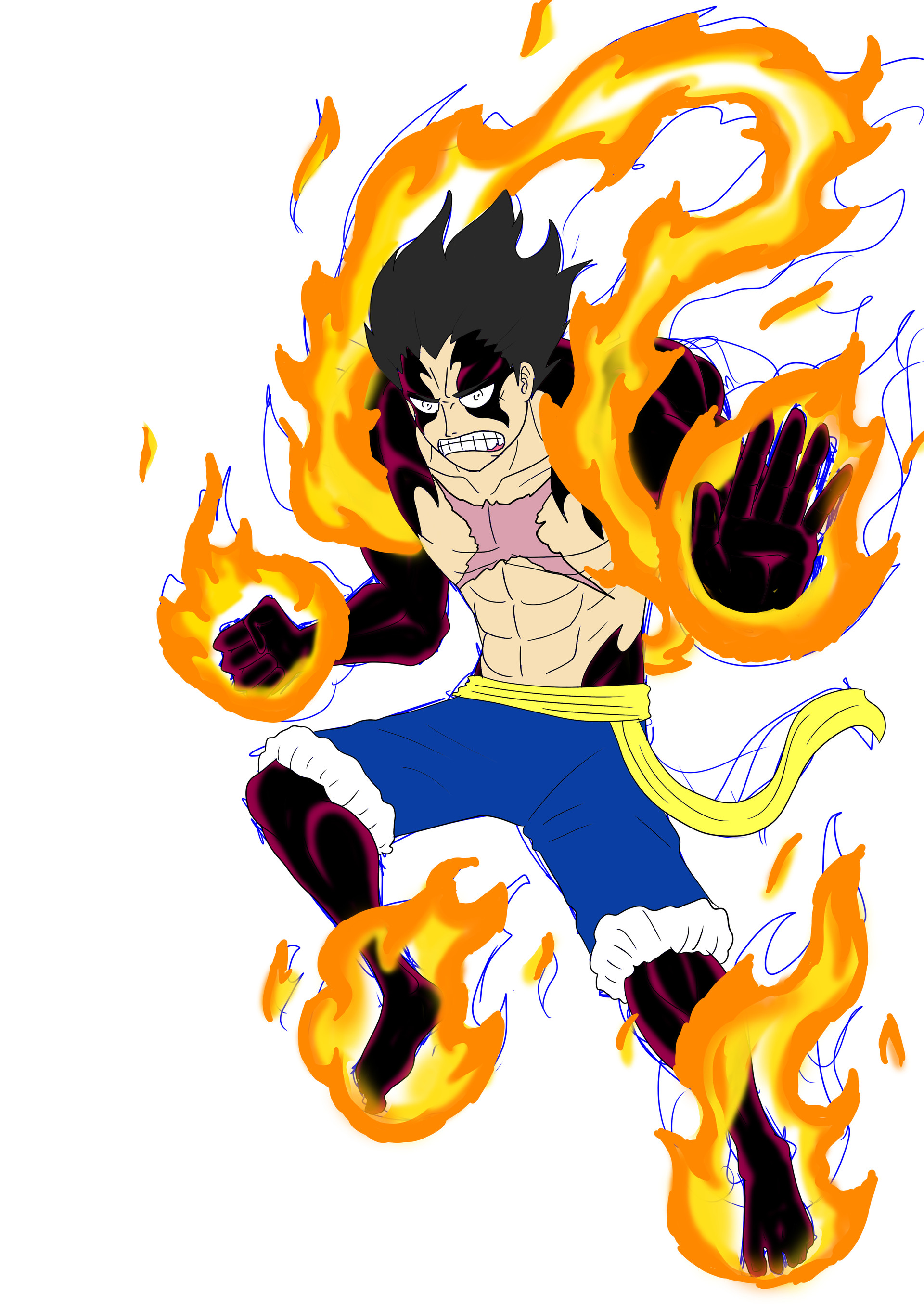 He can be obtained from the hero summon or by evolving ruffy ts. 4th Gear Luffy Red Hawk