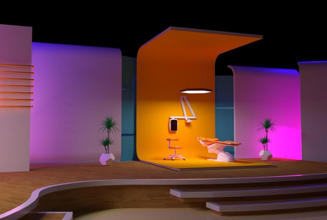 Zyad Fathy Tv Studio Set Design For The Doctors Talk Show