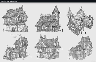 joongho na Rough Sketchs Medieval house designs