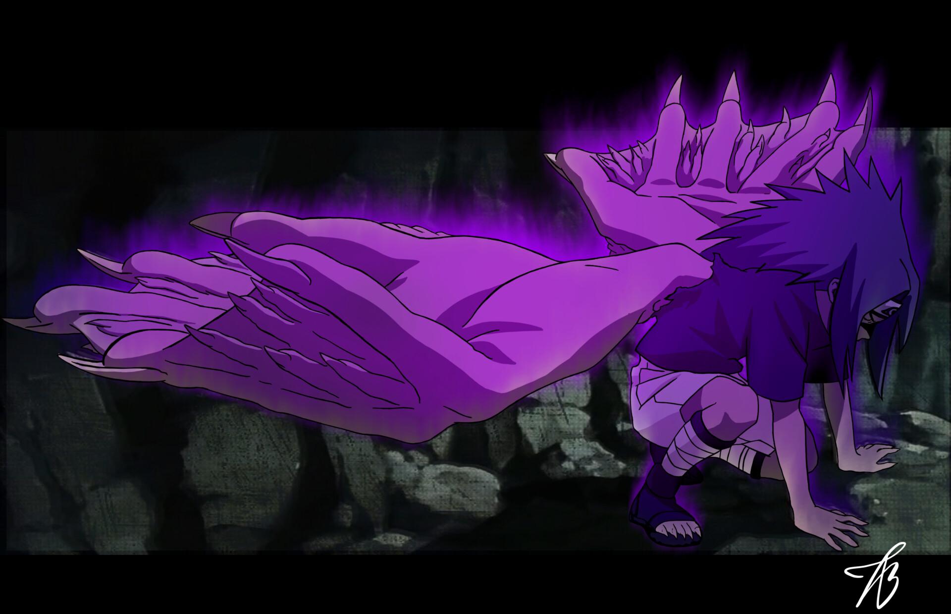 artstation sasuke curse mark