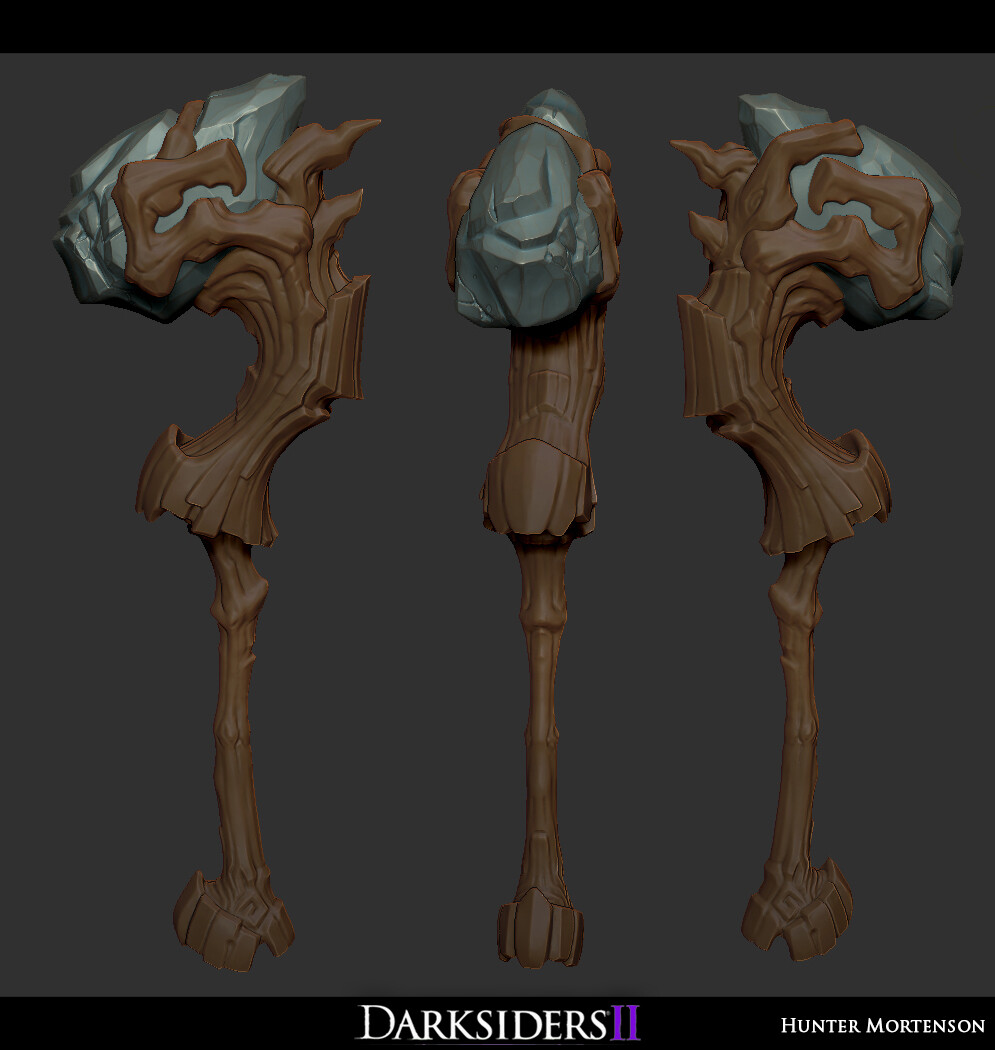 WIP sculpt, didn't make it out with the final asset for this one.