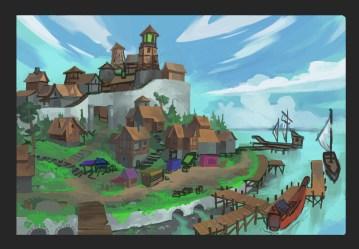 ArtStation Town Outskirts & Port Erik Taberman