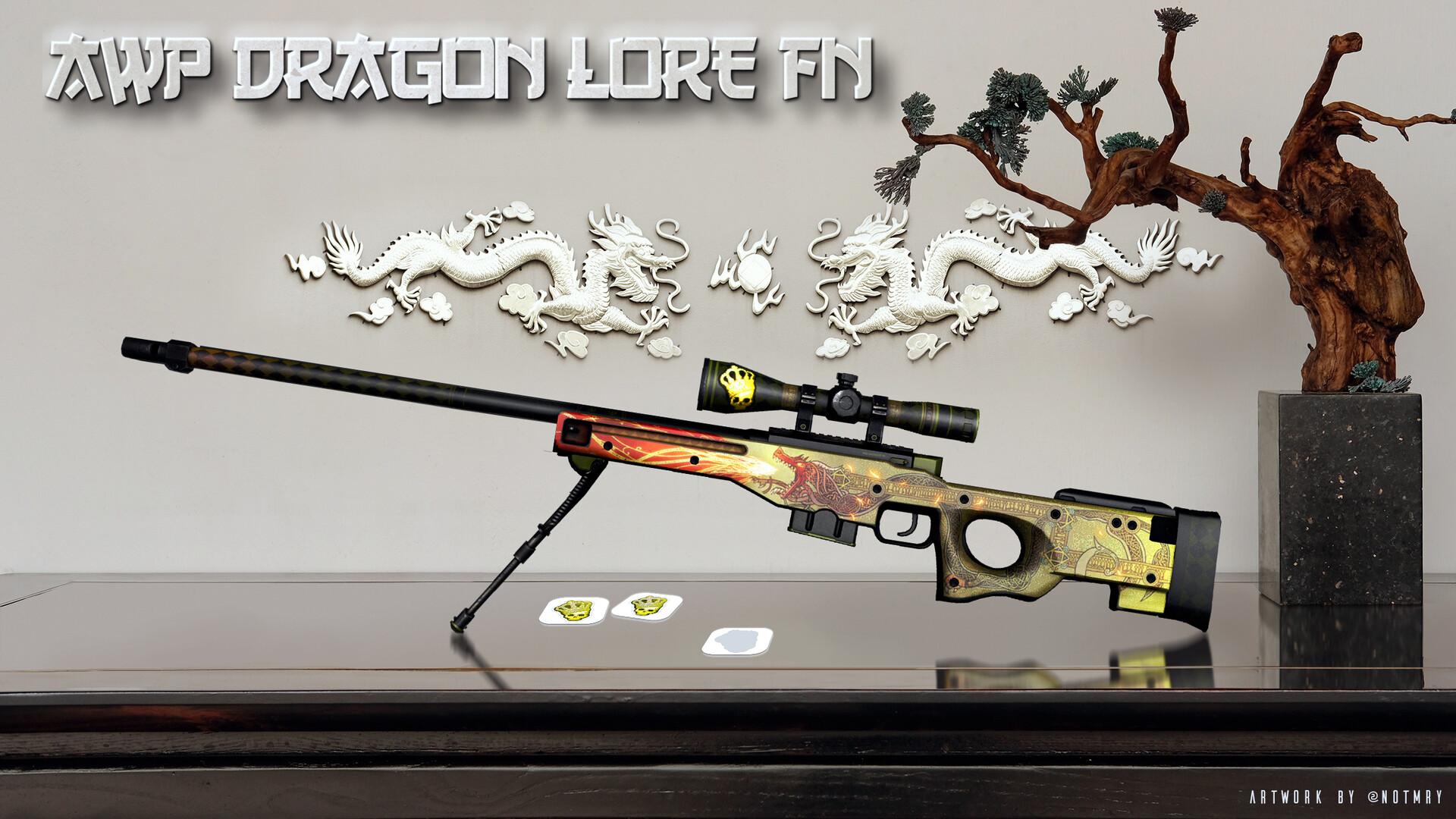 artstation awp dragon lore