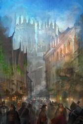 ArtStation fantasy town concept Fei Zhou