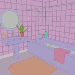 Divya Patel 90s cartoon bathroom